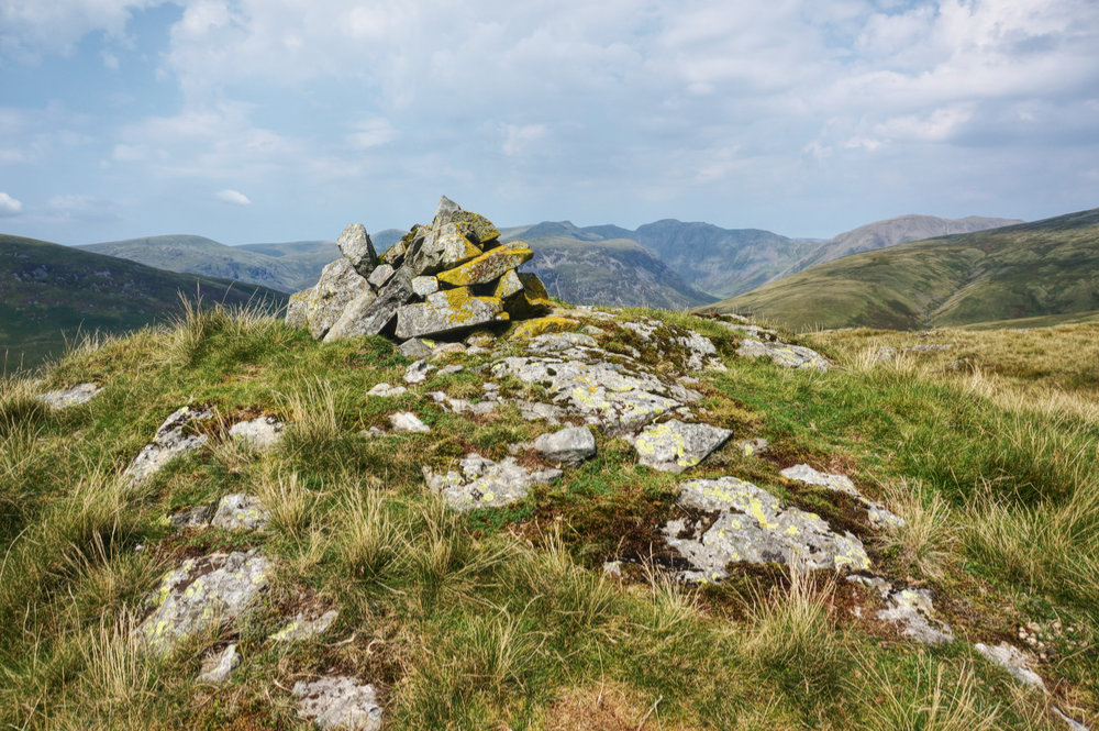 The cairn at Raven Crag