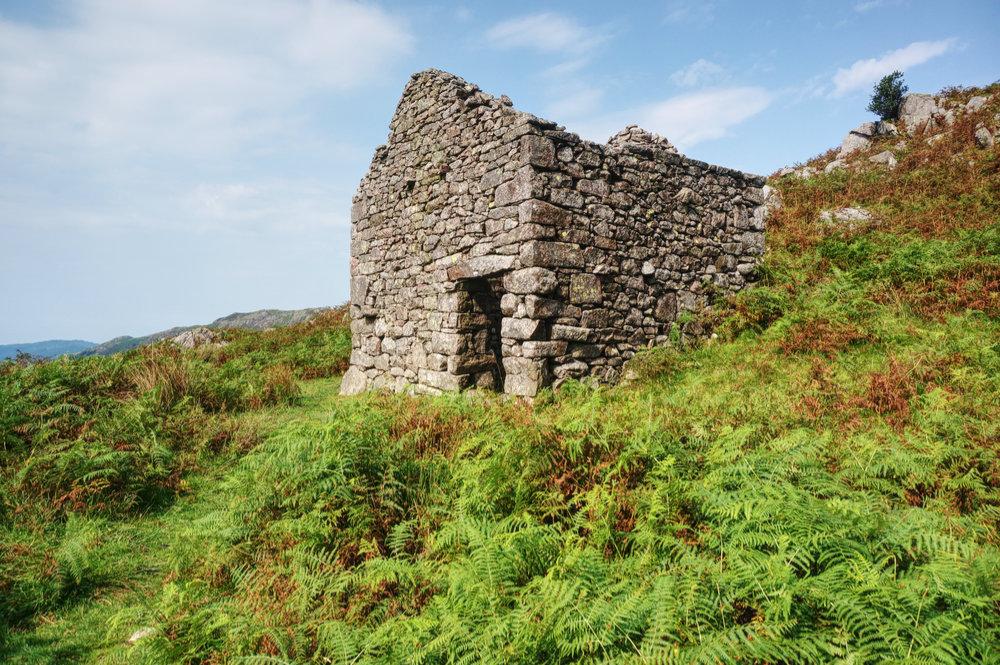 Stone peat hut